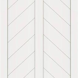 DIYHD 38X84in Fish Bone V Shape Sliding Barn Slab MDF Solid Core Primed Interior Panel(Disassembl... | Amazon (US)