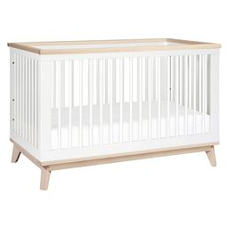 Babyletto Scoot 3-in-1 Convertible Crib with Toddler Bed Conversion Kit in White / Washed Natural... | Amazon (US)