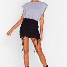 Party At the Front Ruched Mini Skirt | NastyGal (US & CA)