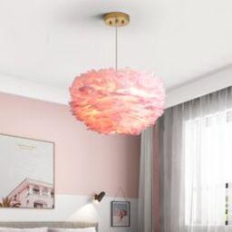 Orren Ellis Alexander-James 3 - Light Unique Globe Chandelier with Feather | Wayfair North America