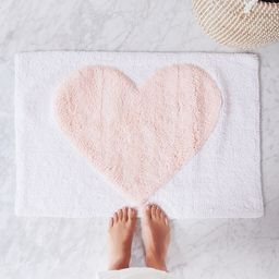 Pink Heart Bath Mat | The Cross Decor & Design