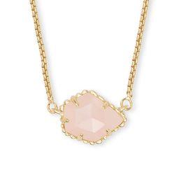 Kendra Scott Women's Necklaces GOLD - Rose Quartz & 14k Gold-Plated Tess Pendant Necklace   Zulily