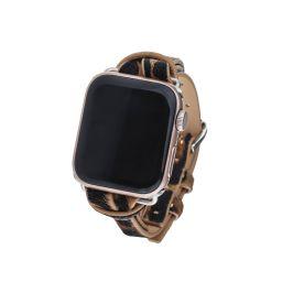Safari Apple Watch Strap on Silver | Victoria Emerson