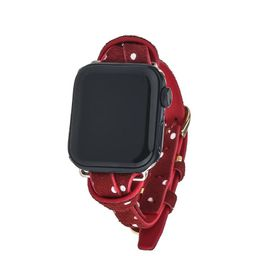 Red Polka Dot Apple Watch on Gold | Victoria Emerson