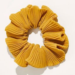 Lucky Pleated Scrunchie by Free People, Mustard, One Size | Free People (US)