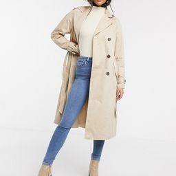 Vero Moda classic trench coat in beige | ASOS (Global)