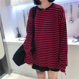 Striped Long-Sleeve T-Shirt | YesStyle Global