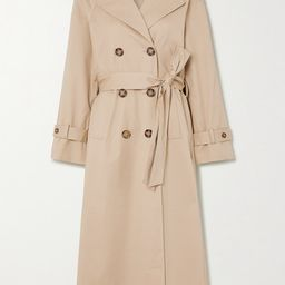 Reformation - Holland Cotton-blend Twill Trench Coat - Camel | Net-a-Porter (US)