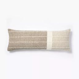 Oversize Woven Wool Cotton Lumbar Throw Pillow Brown/Cream - Threshold™ designed with Studio Mc...   Target