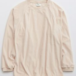 Aerie REAL Obsessed Velour Sweatshirt | American Eagle Outfitters (US & CA)