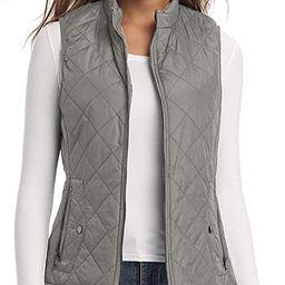 LK Women's Padded Vest, Stand Collar Lightweight Zip Quilted Gilet | Amazon (US)