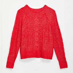 Stitchy Cable Sweater | LOFT