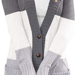 Blibea Womens Casual Long Sleeve Cable Knit Cardigans Button Down Sweater Coats   Amazon (US)