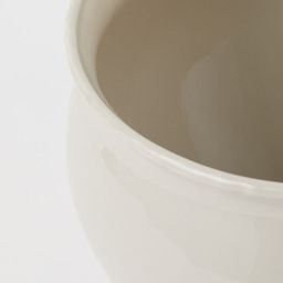 Rounded plant pot in glazed stoneware with a gently flared rim. Diameter at top 7 in. Height 6 3/... | H&M (US)
