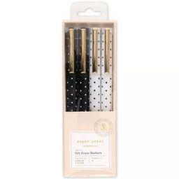 4pk Dry Erase White & Black Markers - Sugar Paper™ | Target