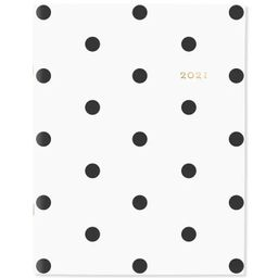 """2021 Planner 8.5"""" x 11"""" Stitched White with Black Dot - Sugar Paper™ 