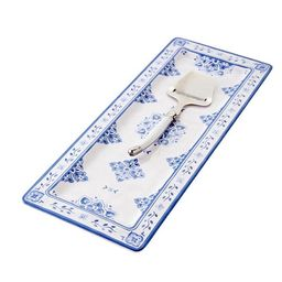 Bistro Cheese Serving Platter in Blue   Caitlin Wilson Design