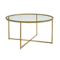Glam X Base Round Coffee Table Faux White - Saracina Home | Target