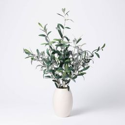 """30"""" x 24"""" Artificial Olive Plant Arrangement in Pot - Threshold™ designed with Studio McGee 
