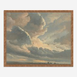'Study of Clouds with a Sunset near Rome' Wall Art by Simon Alexandre Clément Denis   Lulu and Georgia