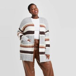 Women's Striped Open-Front Cardigan - A New Day™ | Target