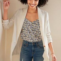 Linen-Blend Blazer for Women   Old Navy (US)