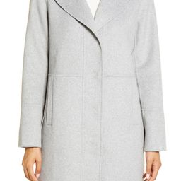 Double Face Wool Blend Coat with Removable Faux Fur Collar | Nordstrom