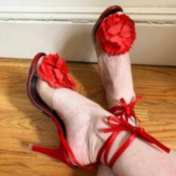 1970S Kris' Goody Too Shoes Red Satin Heels | Etsy (US)