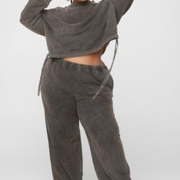 Hey Wash Out Cropped Sweatshirt and Jogger Set | NastyGal (US & CA)