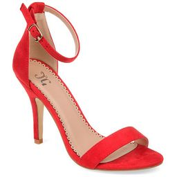 Journee Collection Womens Polly Pumps Buckle Open Toe Stiletto Heel, 11 Medium, Red | JCPenney