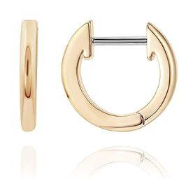 14K Gold Plated Cuff Earrings Huggie Stud | Small Hoop Earrings for Women | Amazon (US)