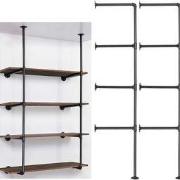 LIANTRAL Industrial Wall Mount Iron Pipe Shelf, DIY Open Bookshelf, Retro Storage Shelves Pipe Sh...   Amazon (US)
