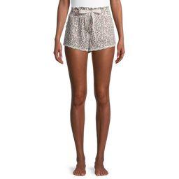 Secret Treasures Women's Ribbed Animal Shorts   Walmart (US)