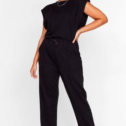 Haven't Seam You Before Plus Top and Joggers Set   NastyGal (US & CA)