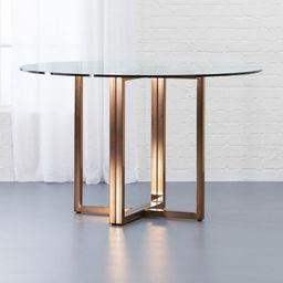 "Silverado Brass 47"" Round Dining Table + Reviews | CB2 | CB2"