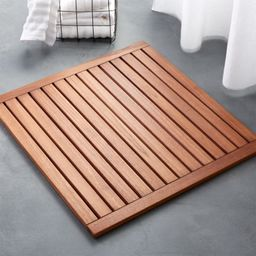 """Lateral Teak Natural Bath Mat 21.75""""x32""""Change Zip Code: SubmitClose$69.95(3.5)  out of 5 stars11... 