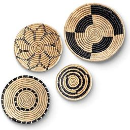 Large Boho Woven Wall Basket Decor - Set of Four – Handmade Wall Art made from Natural Seagrass...   Amazon (US)