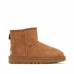 Classic Mini II Suede Ankle Boots with Faux Fur Lining | La Redoute (UK)