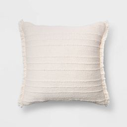 Oversized Cotton Textured Striped Throw Pillow with Fringe - Threshold™   Target