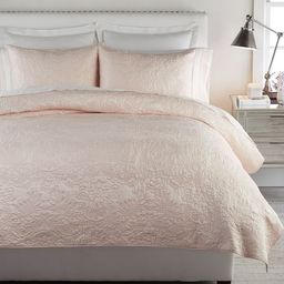 Monique Lhuillier Blossom Embroidered Cotton Quilt & Shams   Pottery Barn (US)