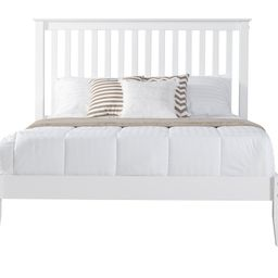 Mission Style Queen Size Platform Bed - White Finish   Walmart (US)