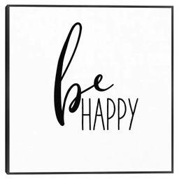 Be Happy By Wild Apple Portfolio Framed Canvas Art Print - Masterpiece Art Gallery   Target