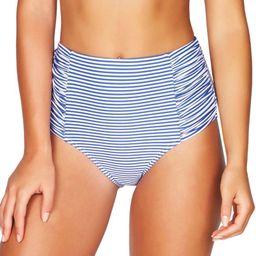 Sorrento Stripe High Waist Gathered Side Bikini Bottoms   Nordstrom