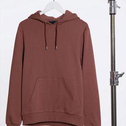 ASOS DESIGN hoodie in brown | ASOS (Global)