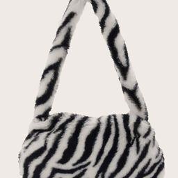 Zebra Pattern Shoulder Bag   ROMWE