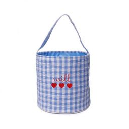 The Bella Bean Shop Personalized Valentine's Day Bucket – Blue Gingham | The Tot