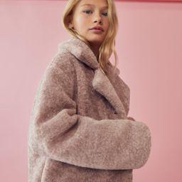 Lapels faux fur coat | MANGO (US)