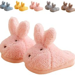 ZHENTAO Toddler Girls Slippers Boys Girls Fluffy Home Slippers Winter Warm Indoor Cute Bunny Shoe... | Amazon (US)