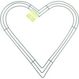 "FloraCraft Design It 16"" Heart Wire Wreath, 1 Each   Walmart (US)"