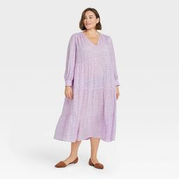 Women's Long Sleeve Tiered Dress - A New Day™ | Target